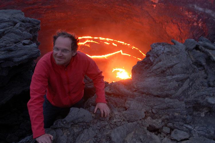 Действующий вулкан в Африке Эрта-Але. Не ходите в Африку гулять..